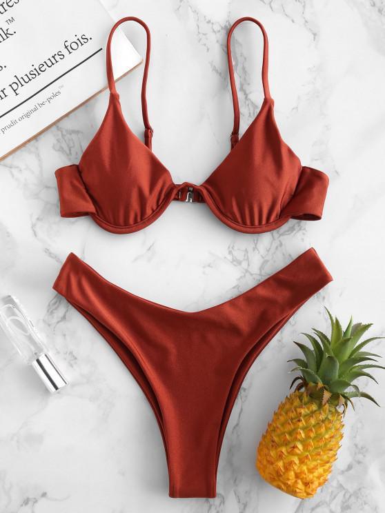 Bikini con Aros de Camuflaje ZAFUL - Salmón Naranja S