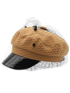 Fishing Net Decoration Winter Army Hat - Caramel