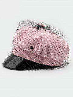 Fishing Net Decoration Winter Army Hat - Pink