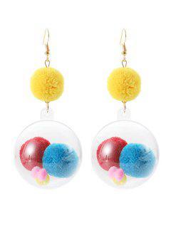 Hairy Ball Hook Earrings - Multi