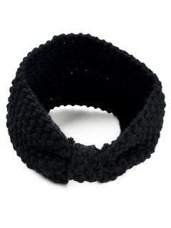 Stylish Bowknot Shape Hair Band - Negro