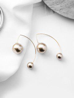Faux Pearl Decoration Dangle Earrings - Champagne Gold