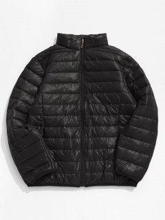 Solid Padded Lightweight Jacket - Black Eel L