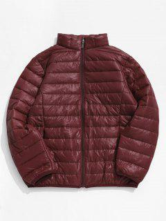 Solid Padded Lightweight Jacket - Chestnut Red L