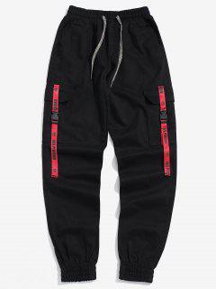Pantalones De Chándal Con Hebilla De Bolsillo - Rojo Xs
