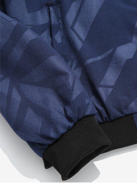chic Simple Zipper Placket Baseball Jacket - LAPIS BLUE XL Mobile