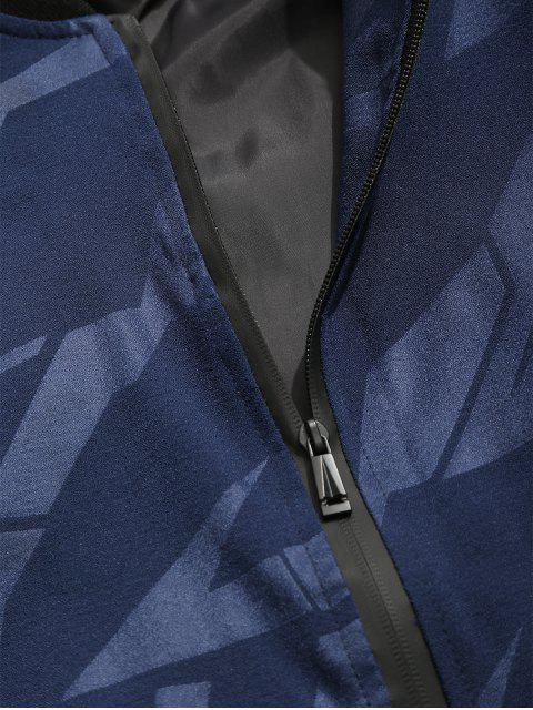 Veste de Base-ball Simple Zippée - Bleu Lapis XL Mobile