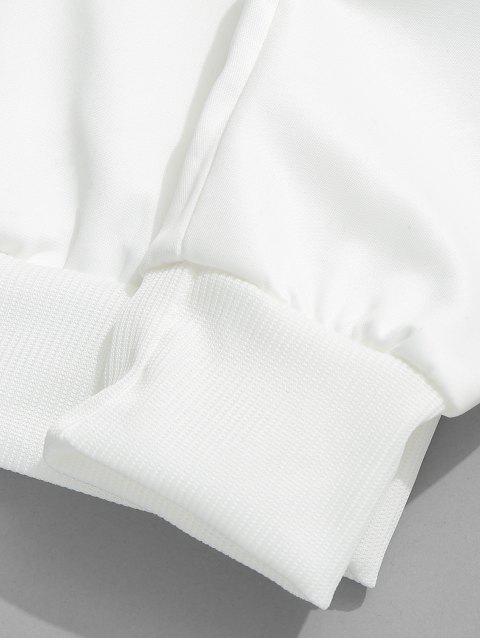 hot Letter Ombre Print Pouch Pocket Hoodie - LAPIS BLUE M Mobile