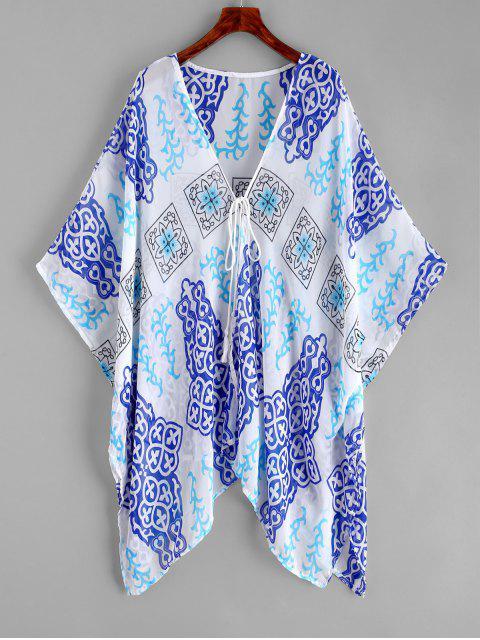 Encuadernación de Kimono impresa en el frente - Multicolor-A Talla única Mobile