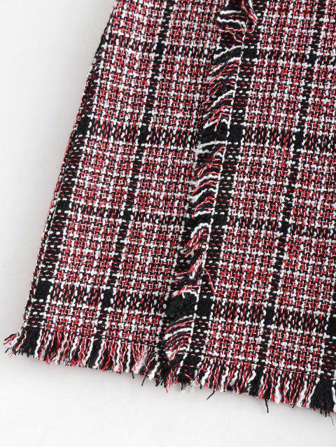 Jupe en Tweed à Franges - Multi-C L Mobile