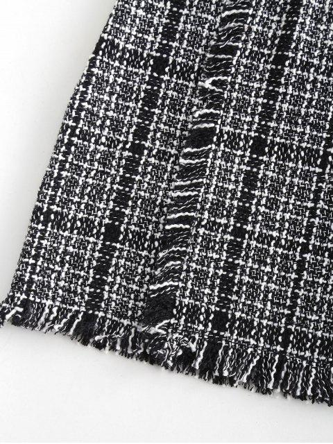 outfits Fringed Tweed Skirt - MULTI-A S Mobile