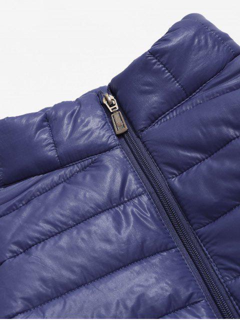 Veste Légère Matelassée en Couleur Unie - Cadetblue L Mobile