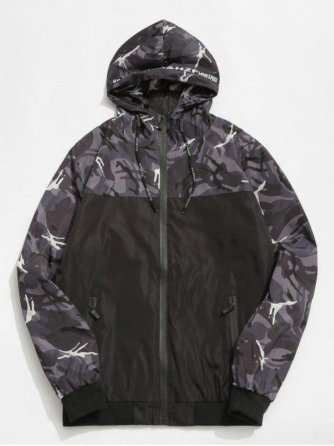 Veste à Capuche Coupe Vent Camouflage - Gris 2XL Mobile