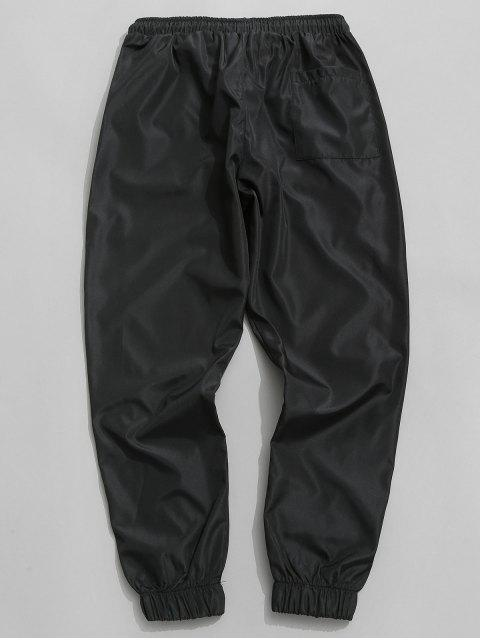 hot Side Stripe Drawstring Jogger Pants - BLACK XL Mobile