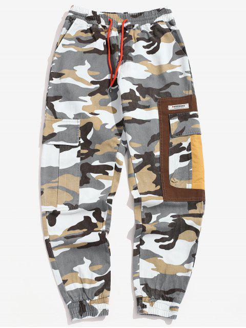 fashion Camo Drawstring Cargo Pants - ACU CAMOUFLAGE M Mobile