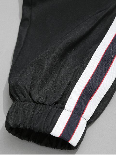 new Side Stripe Drawstring Jogger Pants - BLACK XS Mobile