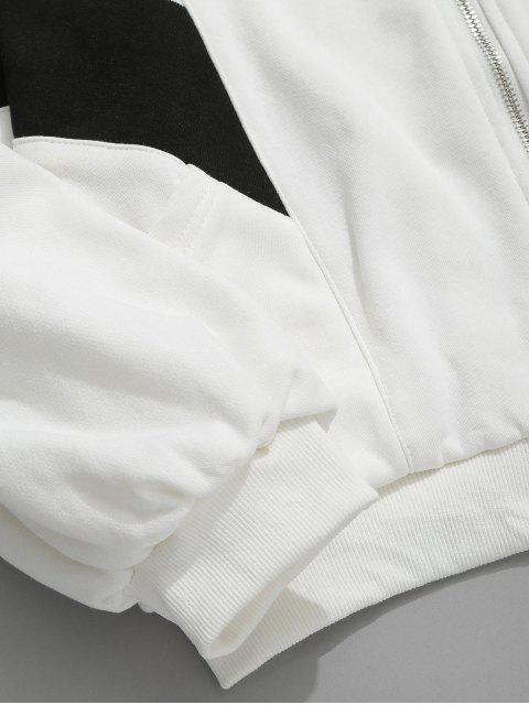 outfit Bat Sleeve Drawstring Collar Loose Jacket - WHITE L Mobile
