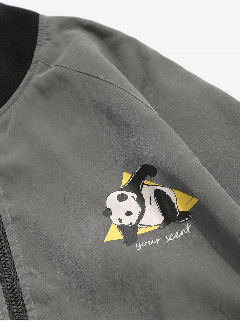 Blouson Graphique Panda - Gris Foncé M Mobile