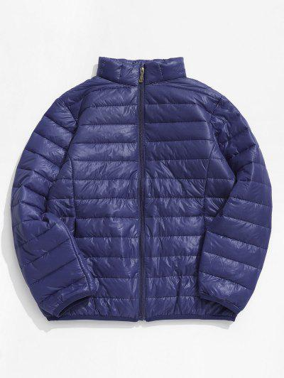 Solid Padded Lightweight Jacket - Cadetblue Xs