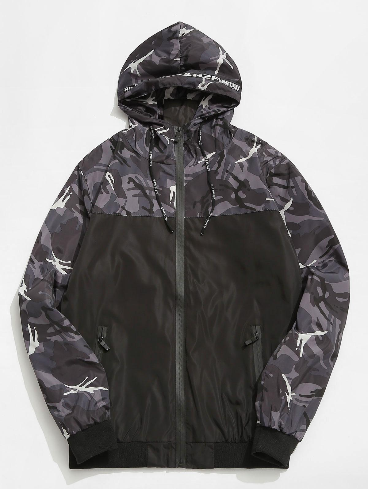 Camouflage Hooded Veste Coupe-Vent