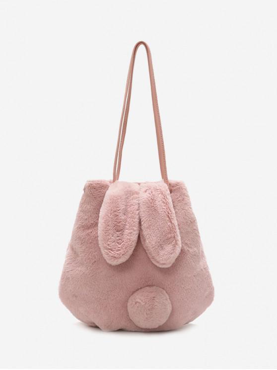 0a71e668bc0c 34% OFF  2019 Faux Fur Rabbit Ears Shoulder Bag In PINK