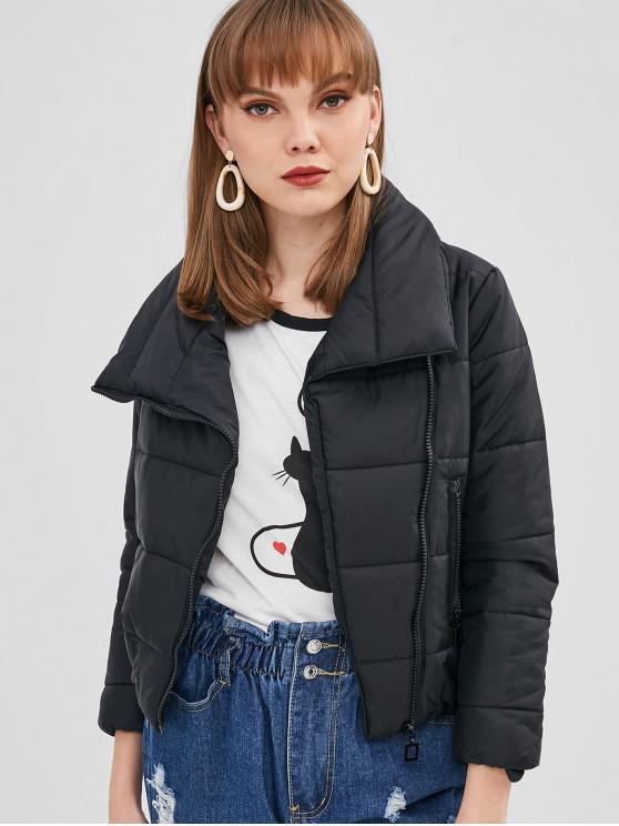 Chaqueta acolchada de bolsillo con cremallera - Negro XL