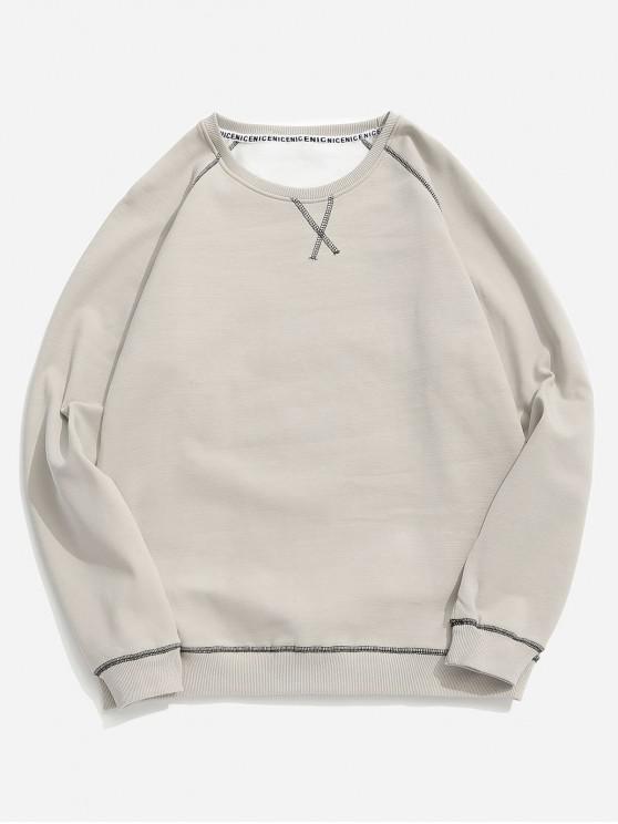 ladies Seam Detail Fleece Sweatshirt - APRICOT XS