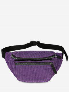 Vintage Corduroy Portable Fanny Pack - Purple Iris