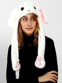 Winter Fuzzy Cartoon Pattern Plush Hat - Beige