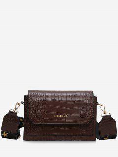 PU Square Strap Crossbody Bag - Light Brown