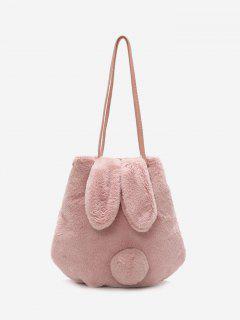 Faux Fur Rabbit Ears Shoulder Bag - Pink
