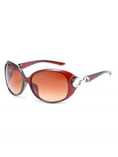 Butterfly Shape Hollowed Temples Sunglasses - Brown