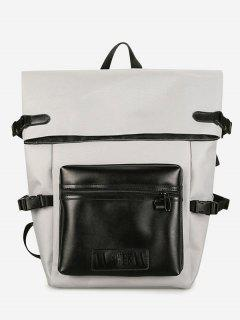 High-capacity Multi Release Buckle Backpack - White