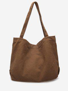 Solid Casual Open Tote Bag - Light Khaki