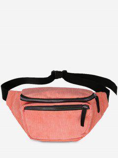 Vintage Corduroy Portable Fanny Pack - Pink