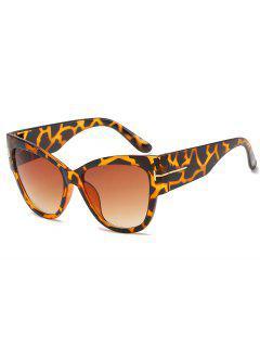 Stylish  Leopard Pattern PC Wide Brim Sunglasses - Leopard