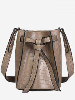 Knot Adjustable Strap Bucket Bag - Light Khaki