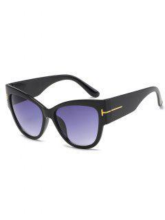 Stylish  Leopard Pattern PC Wide Brim Sunglasses - Black