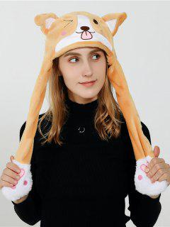 Faux Wool Animal Design Plush Hat - Saffron