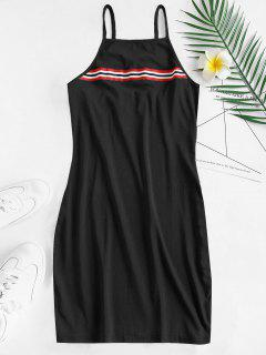 Cami Stripes Mini Dress - Black S