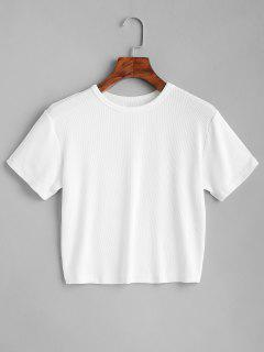 ZAFUL Camiseta Lisa Recortada - Blanco M