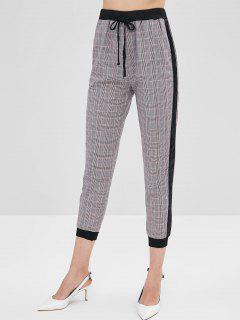 Pantalon De Jogging à Carreaux à Taille Haute - Multi L