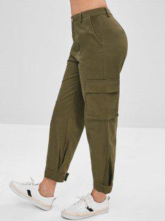 Zip Fly Pocket Cargo Pants - Army Green M