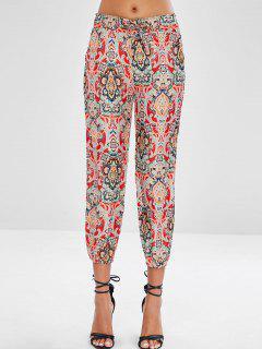 Pantalon Imprimé Avec Cordon De Jogging - Rouge Saint-valentin