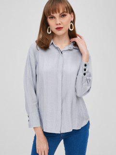 Chemise à Poignet Boutonné - Bleu Bébé M