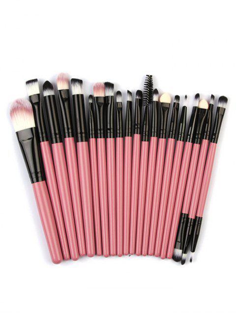 Pinceaux de Maquillage pour les Yeux avec Tampons de Maquillage en Coton - Rose Vif  Mobile