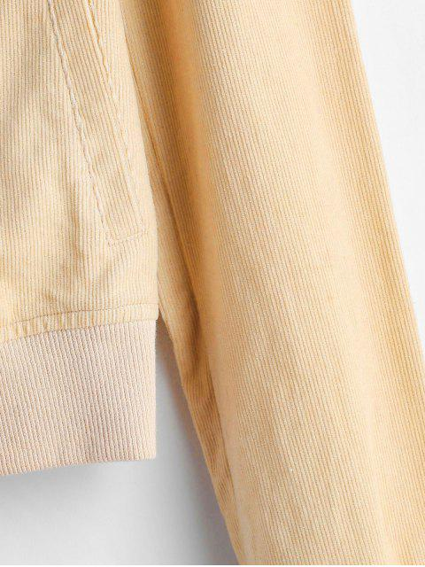 fashion ZAFUL Zip Up Corduroy Pocket Jacket - APRICOT XL Mobile