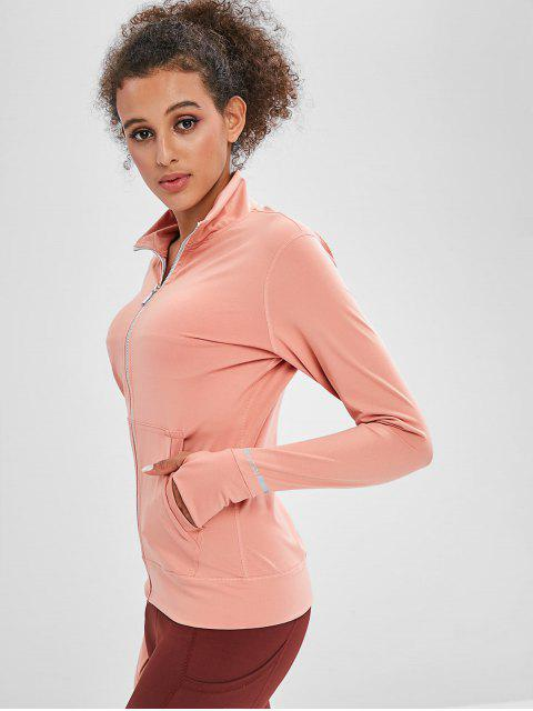 latest Zipper Mesh Insert Jacket with Armhole - ROSE L Mobile