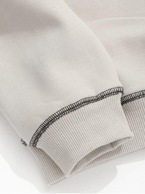 ladies Seam Detail Fleece Sweatshirt - APRICOT XS Mobile