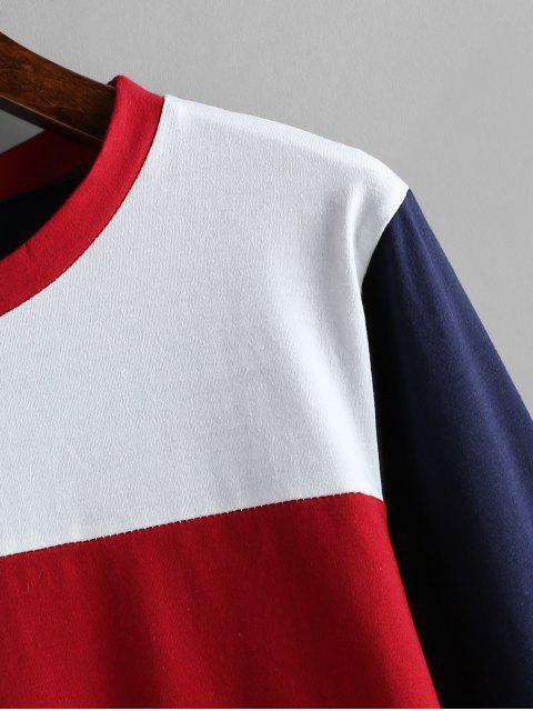 T-shirt en Blocs de Couleurs à Manches Longues - Multi S Mobile